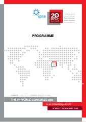 Pr world congress 2012 program