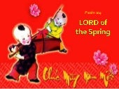 Ps 104  LORD of the Spring