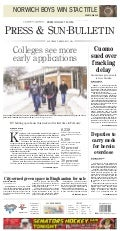 Front Page of the Feb 15, 2014 Binghamton Press & Sun-Bulletin
