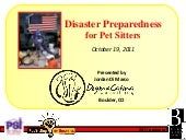 Disaster Preparedness for Pet Sitte...