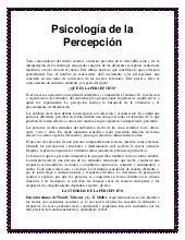 Psico de la percepcion