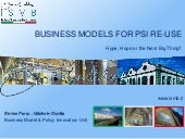 Business Models in PSI Reuse