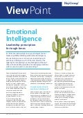 Emotional Intelligence : Leadership Prescription for Tough Times