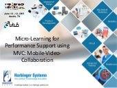 Micro-learning for Performance Support Using MVC: Mobile-video Collaboration