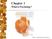 Psych 101 Chapter One
