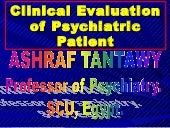 Psychiatric evaluation & mse