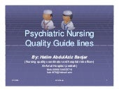 Psychiatric nursing quality guide l...