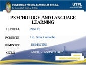 Psychology and Language Learning (I...