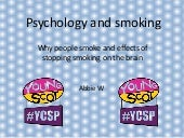 Psychology and smoking