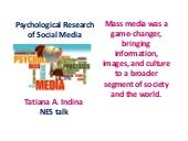 Psychology & Social Media Research ...