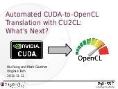 PT-4057, Automated CUDA-to-OpenCL™ ...