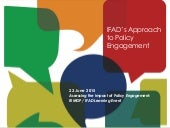 IFAD's Approach to Policy Engagement