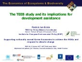 PtB of IEEP TEEB and development as...