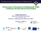PtB TEEB for Policy Makers Webinar/...