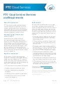 PTC Cloud Services Overview Requirements Worksheet