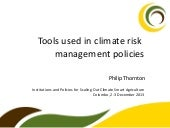 Tools used in climate risk managem...