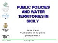 Public Policies and Water Territories in Sicily