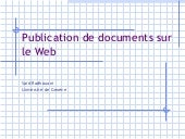 Publication de documents sur le Web
