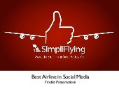 #SFAwards13 Best Airlines in Social...