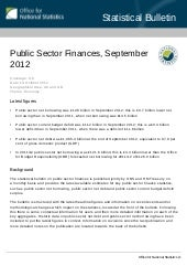 Public Sector Finances, September 2012