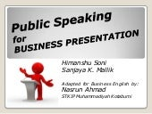 Public speaking for business presen...