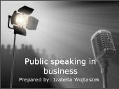 Public speaking in business
