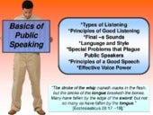 Public speaking, speech