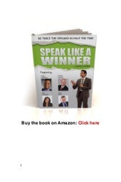 Public speaking techniques speak li...