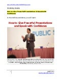 Public speaking training course improve presentation skills
