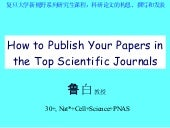Publish Your Papers In The Top Scie...
