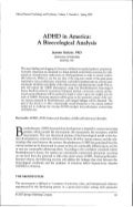 ADHD in America: A Bioecological Analysis