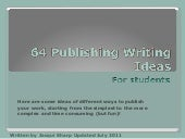 Publishing Writing Ideas November 2009