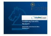 Publishing scientific research - Natalie Pafitis