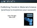 Publishing Trends In Materials Science