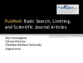 PubMed: Basic Searching, Limits, an...