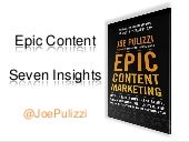 7 Content Insights - Epic Content Marketing - Integrated Marketing Forum 2013