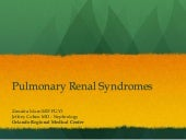 Pulmonary Renal Syndromes