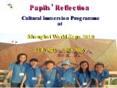 Pupils' reflection part 1
