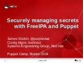 Puppet Camp Boston 2014: Securely Managing Secrets with FreeIPA and Puppet (Intermediate)
