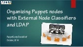 Puppet Camp Düsseldorf 2014: External Node Classifiers - Get Efficient and Do A Lot More (Beginner)