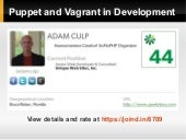 Puppet and Vagrant in development