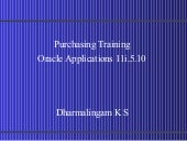 Purchasing 11i.5.10 Training