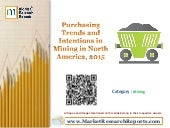 Purchasing Trends and Intentions in Mining in North America, 2015