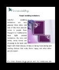 Purple wedding invitations shine the big day