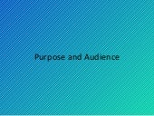 Purpose And Audience Powerpoint