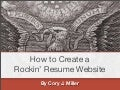 How to Create a Rockin' Resume Website