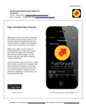 Pushforward iPhone App, Media Kit