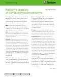 Putnam glossary of investment terms