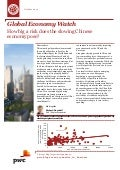 Etude PwC Global Economy Watch (oct. 2015)