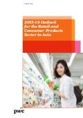 Etude PwC R&C Asia Outlook (avril 2015)